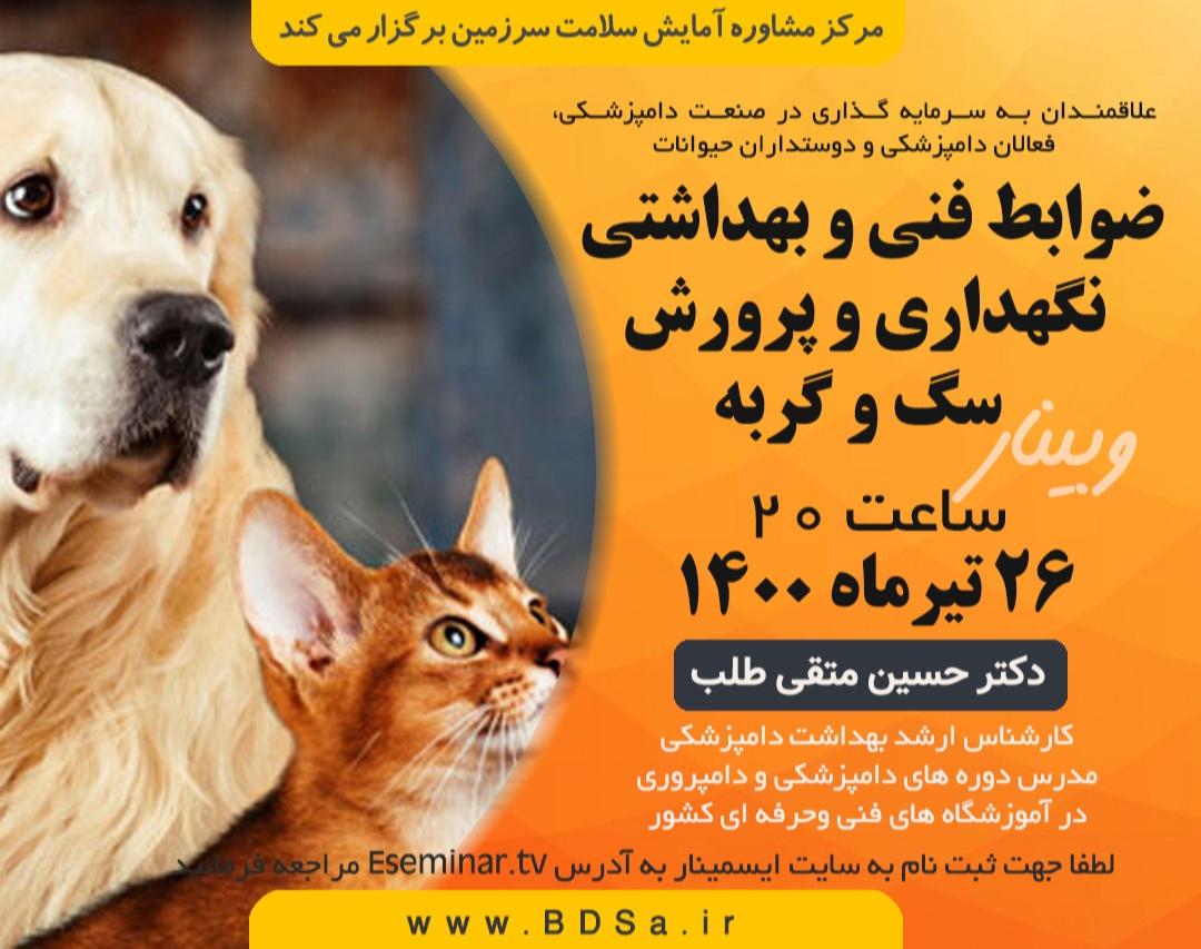 ضوابط بهداشتی پرورش سگ